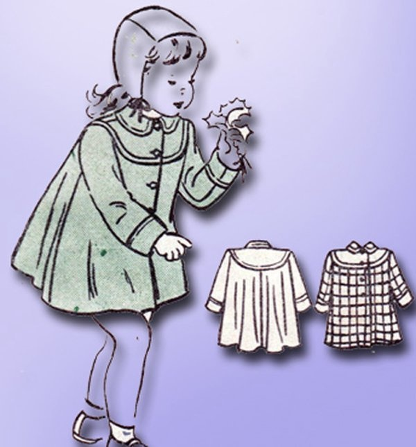 1940s Original Charming Toddlers Lined Coat Pattern Sz 6 | eBay