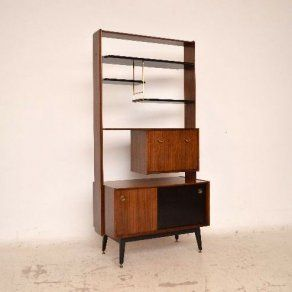 Retro Ebonised Afromosia Bookcase / Room Divider by G- plan Vintage 1950's