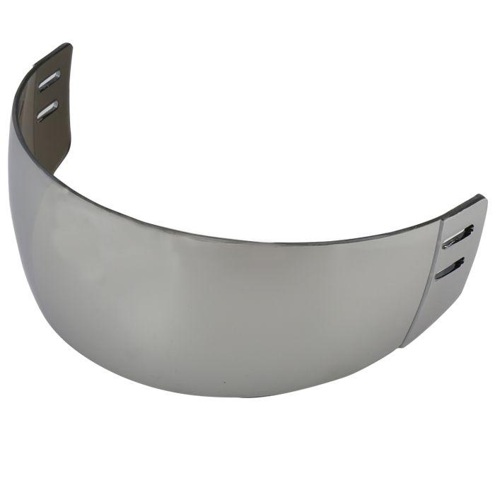 Haute qualité PC Argent réfléchissant visor pour hockey sur glace avec Anti-scratch pour les deux côtés