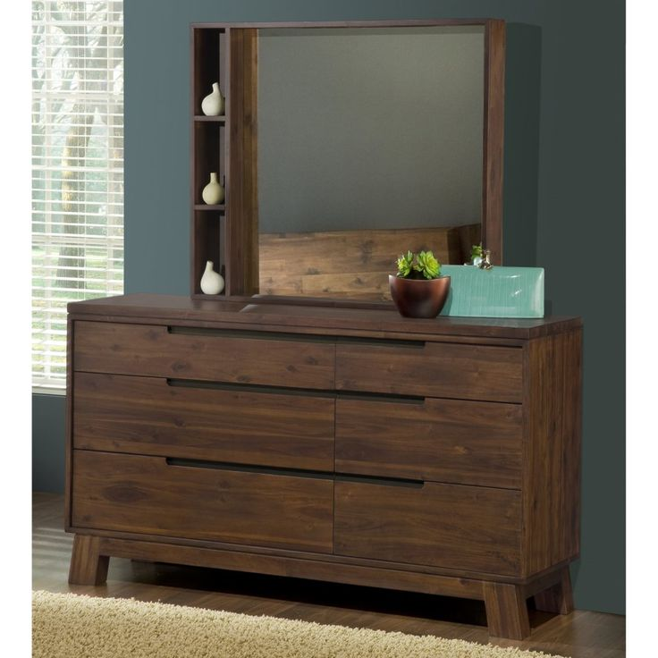 Portland Solid Wood Dresser With Optional Mirror Dressers Chests At Hayneedle