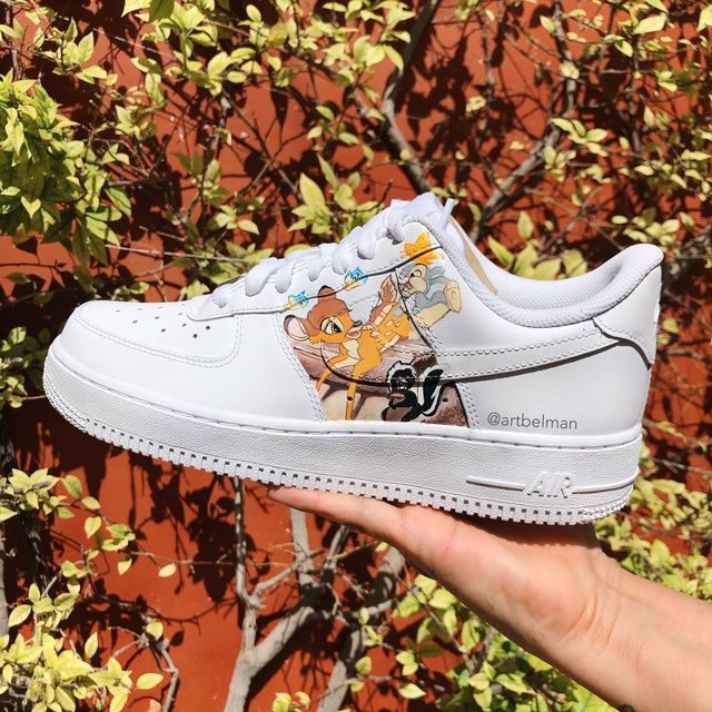 Bambi x Nike AF1 by ART BELMAN | Nike air shoes, Personalized ...
