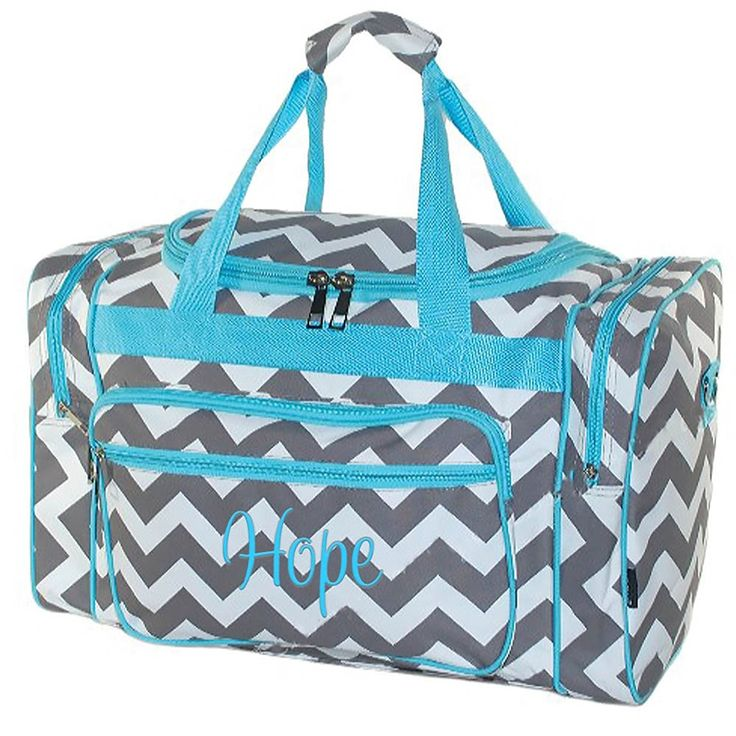 Personalized 20' Chevron Print Womens Duffel Bags -- See this great product.