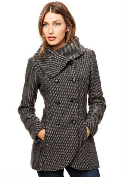 Jessica Simpson Envelope Collar Coat