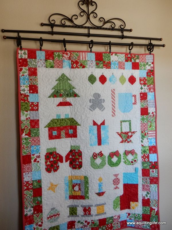 Christmas Quilt Home Tour Part 1 | A Quilting Life - a quilt blog Christmas quilts and decor with decorating tips.