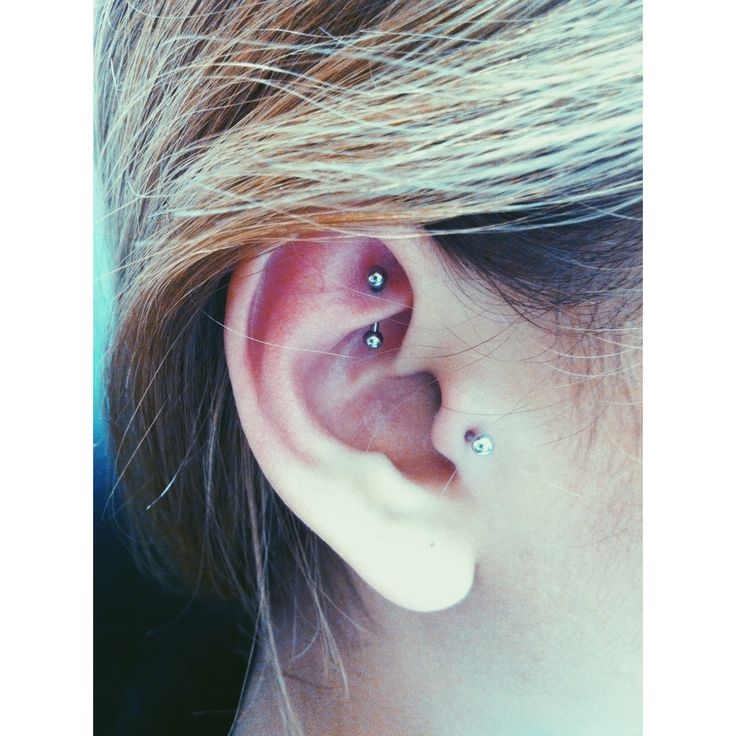 conch and rook piercing - Google Search