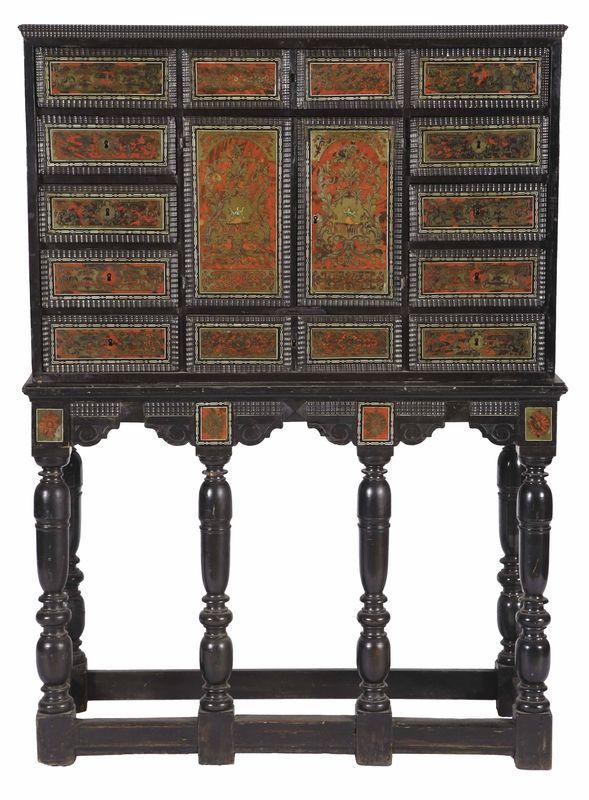 Cabinet en placage d'ébène, Epoque Louis XIII