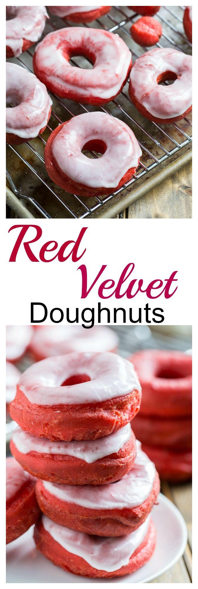 Glazed Red Velvet Donuts