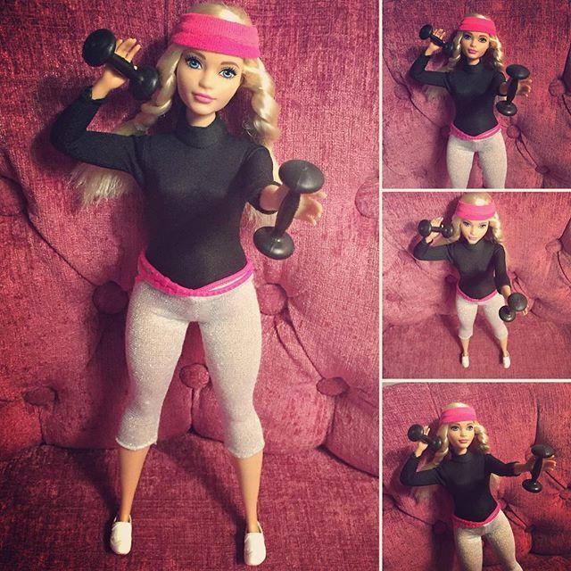 Do you even lift?  Curvy Barbie does because she kicks ass.  #curvybarbie #curvy…