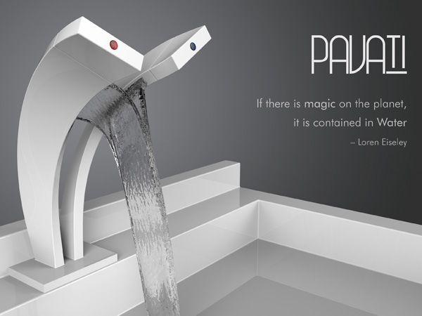 Rubinetto Dual Stream, futuristica cascata d'acqua - Ideare casa