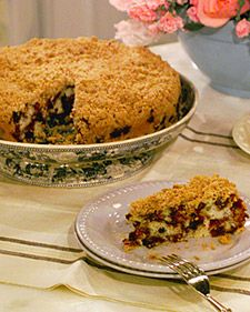 Blueberry Buckle, Recipe from Martha Stewart Living, July/August 2000