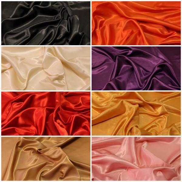 SOILD COLOURED ARTIFICIAL FAUX IMITATION SILK TAFFETA DRESS FABRIC