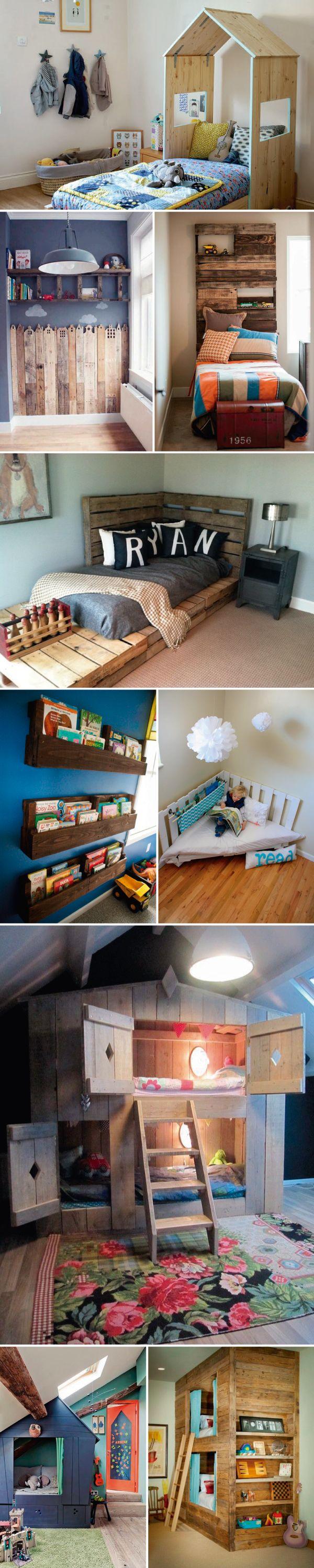 Madeira crua em quartos infantis  <3