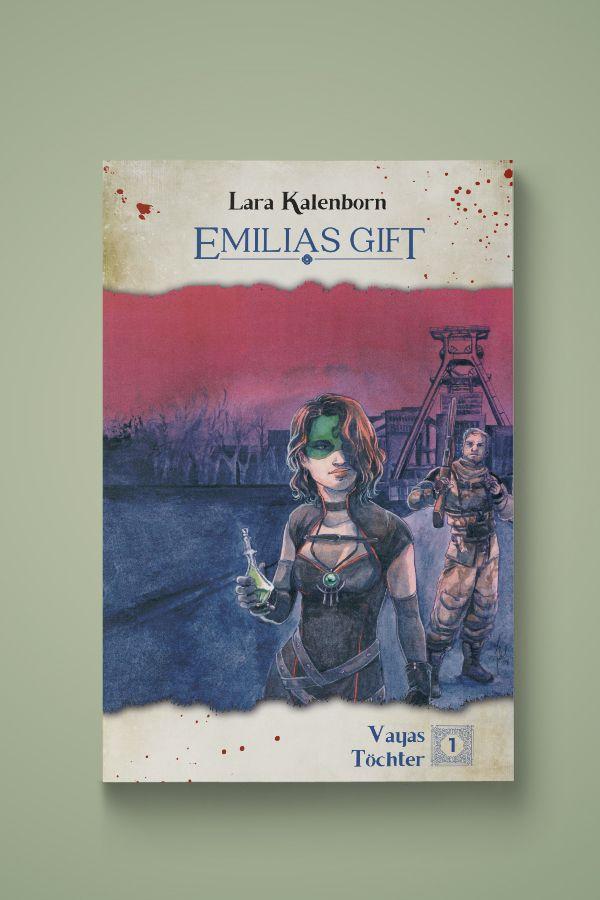 """Buchcover für den 1. Teil der Fantastik-Endzeit-Trilogie """"Vayas Töchter"""""""