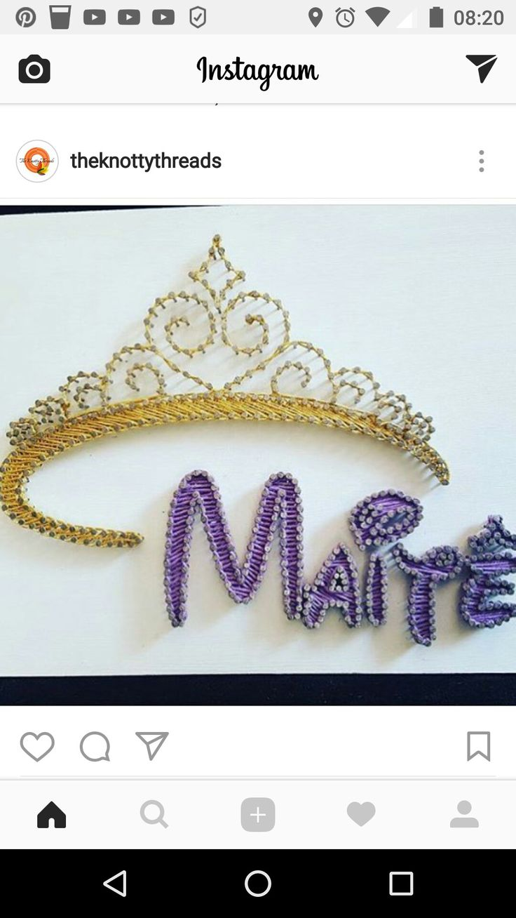 Nail String Art, String Crafts, Nail Art, Disney Enchanted, Art Decor,  Craft Things, Filo, Disneyland, Crown