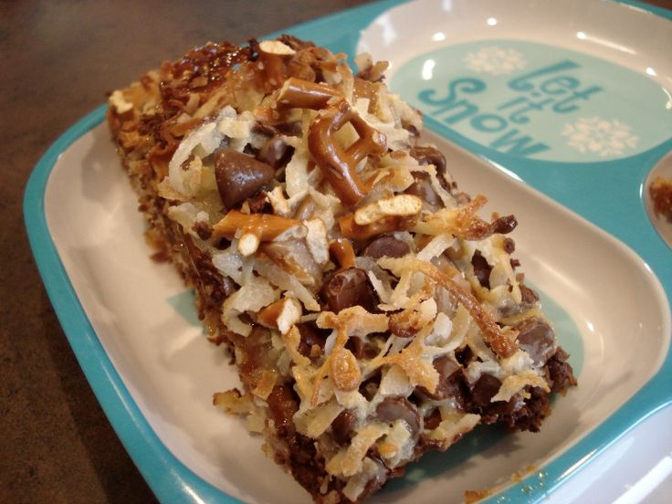 Share it! There are many names for these bars & many variations, so naturally, I love this type of recipe. You can change anything you want & make it yours. These bars are known as magic bars, kitchen sink bars, million dollar bars, etc. You basically have a crust (grahams, chocolate grahams, crushed oreos, crushed …