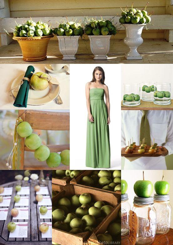 apple wedding theme | of the wedding community s favourite green apple wedding ideas