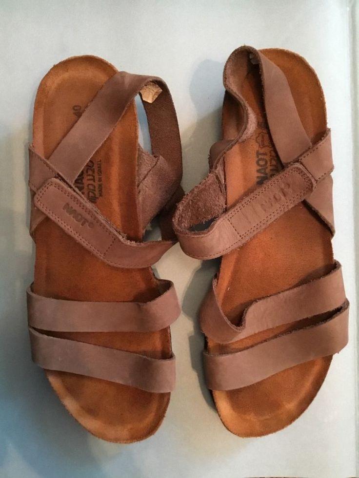 NAOT Kayla brown leather wedge sandal EU40/US W9 black soles | Clothing, Shoes & Accessories, Women's Shoes, Sandals & Flip Flops | eBay!