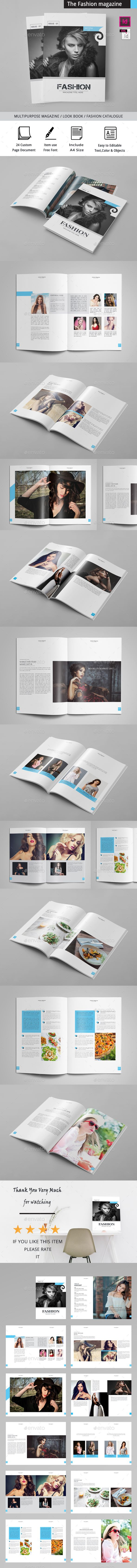 The Fashion Magazine — InDesign INDD #fashion #designer • Download ➝ https://graphicriver.net/item/the-fashion-magazine/19637429?ref=pxcr