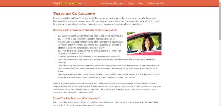 Buy Temporary Car Insurance Online - Short Term Coverage