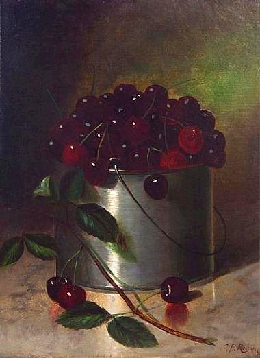 Carducius Plantagenet Ream: Bucket of Cherries, 1876: Paintings Art, Art Vegetables Fruit Paintings, Life Paintings, Art Stil Life, Red Buckets, Carducius Plantagenet Ream, Life Art, Cherries 1876, Ream Buckets
