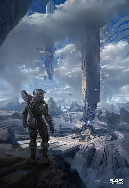 Enjoy 26 Stunning Pieces of Halo 4 Concept & Promotional Art Also see #sci fi pics at www.freecomputerdesktopwallpaper.com/wspacenine.shtml