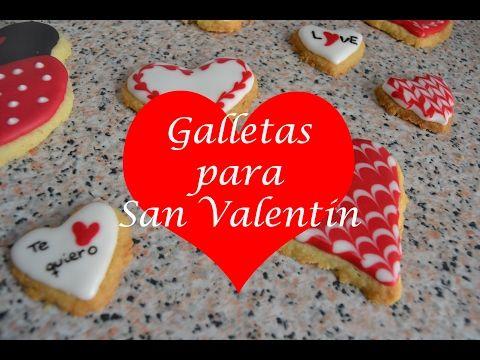 Galletas con GLASEADO REAL en forma de corazón ♥ para SAN VALENTÍN   Royal icing - YouTube