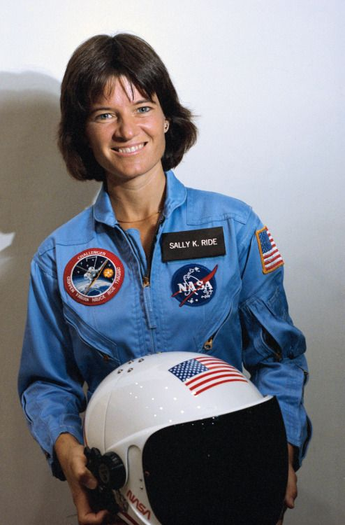 Astronaut Sally Ride, first American woman in space, on May 9, 1983.