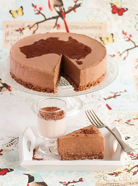 Milo Cheesecake with Chocolate Crackle Crust by raspberri cupcakes, Might have to make this for Australia Day