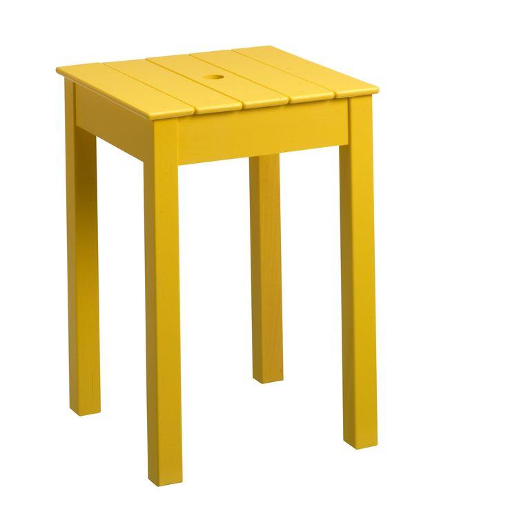 Holz Taburett Gelb B 32 H 46 T Cm