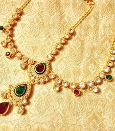 Buy Royal Wedding Jewelry Mathapatti Maang Tikka maang-tikka online