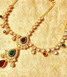 Buy Royal Wedding Jewelry Mathapatti Maang Tikka maang-tikka online