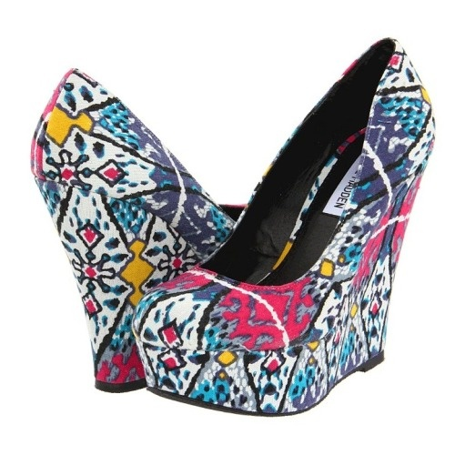 cute colorful Steve Madden wedges.: Fashion, Style, Steve Madden, Shoes 3, Wedges, Closet, Fun, Stevemadden