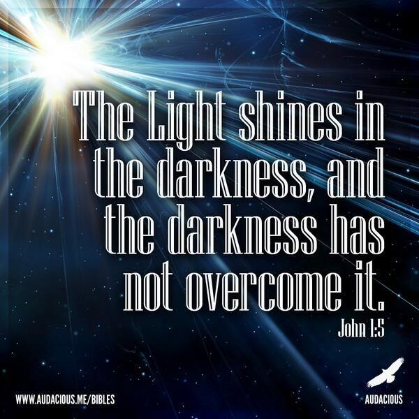John 1:5 #John1 #Bible #Verse #AudaciousVerse http://www.audacious.me/bibles