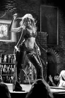 "Jessica Alba as ""Nancy"" in SIN CITY (2005)  Directed by Robert Rodriquez & Quentin Tarrantino  Starring Bruce Willis, Mickey Rourke,Powers Booth,Benicio Del Toro, Roasrio Dawson, Clive Owen, Elijah Wood & Rutger Hauer"