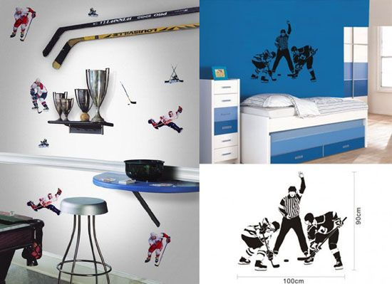 Decorating Ideas : Hockey Themed Bedroom Design