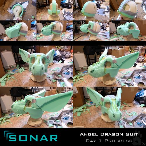 Angel Dragon fursuit head If you're interested, look up her videos on YouTube! Sonar turned out so well.