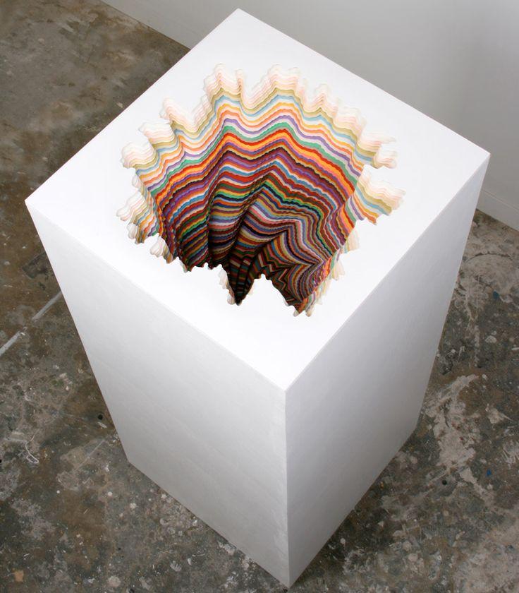 jen stark: hand-cut paper sculptures