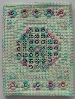 Sew in Love:  Mary Hickmott hardanger design.  This time it was a free download from the old 'Classic Stitches' website