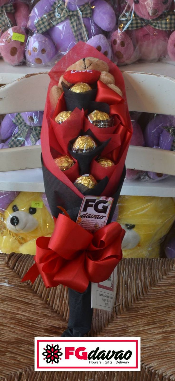 Red and Black Themed Chocolate Bouquet  Flowers Gifts Delivery www.FGDavao.com 0998 579 5720  #chocolatebouquet #bouquetofchocolates #tinybears #cute #uniquet #gift #surprise #love #sweets #sweetgift #sweetsurprise #stuffedtoys #stuffedtoybouquet #gifts #giftshop #giftdelivery #fgdavao #ph #arts #crafts #chocolates