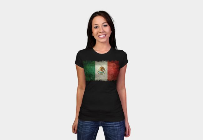 Flag of Mexico T-Shirt - Design By Humans #mexico #mexicoflag #mexicanflag