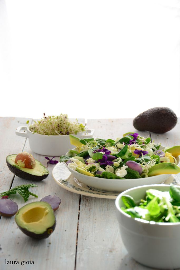 insalata di patate viola e avocado - Laura Gioia