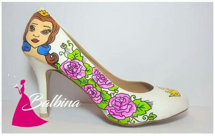 princess # castle # colorful # balbina # bella# hand painted shoes # disney