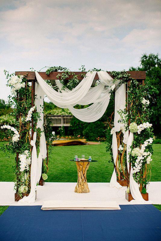 Beautiful ceremony decor #weddings #theceremony #decor