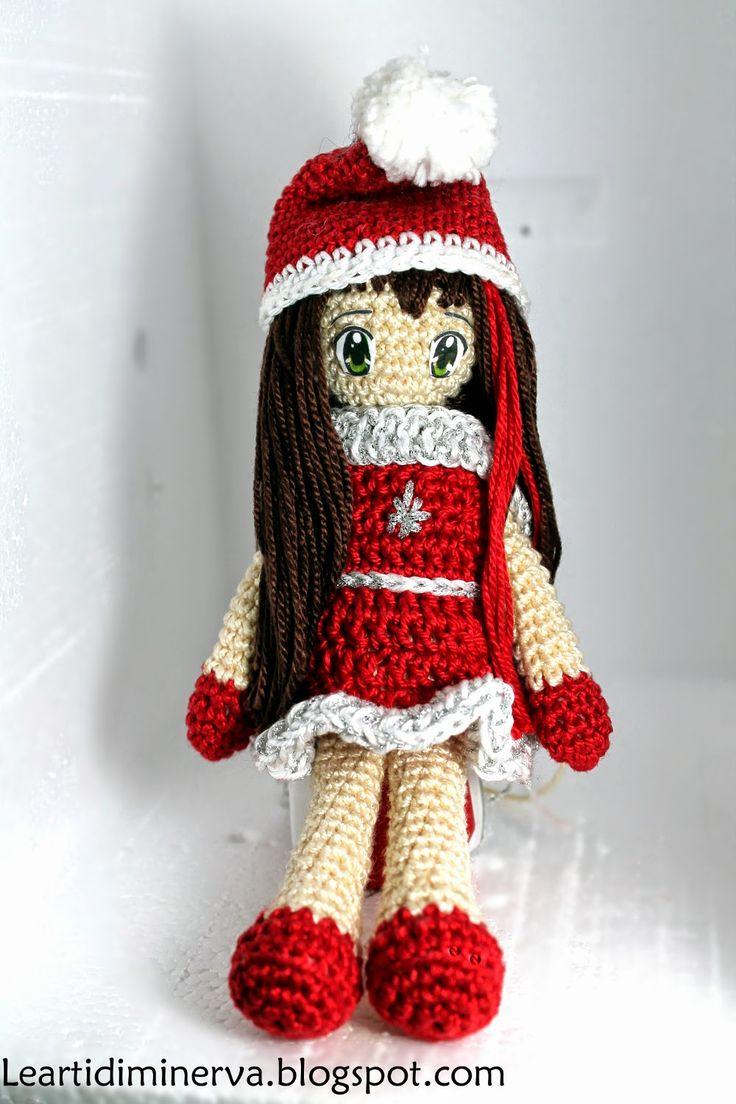 MaryJ Handmade: Bambolina Amigurumi   Christmas doll amigurumi