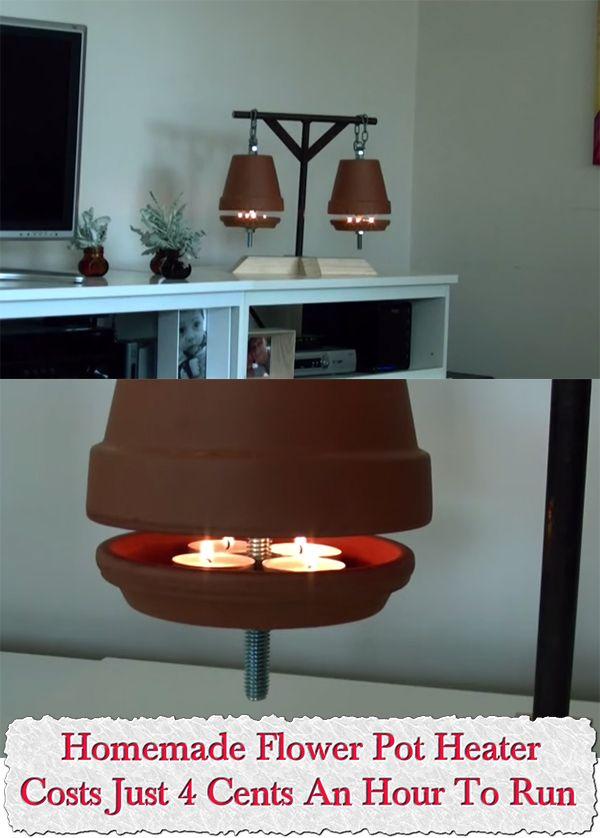 Homemade Flower Pot Heater – Costs Just 4 Cents An Hour To Run