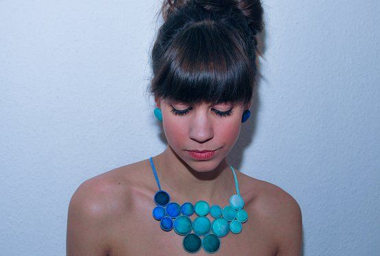 hand-painted silk jewelry