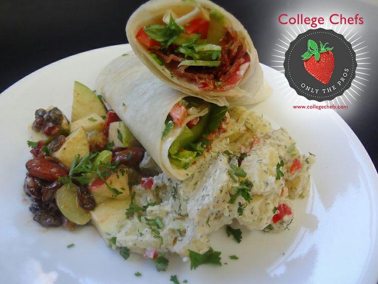 ... sour cream dill potato salad and apple waldorf salad # wefeedthegreek
