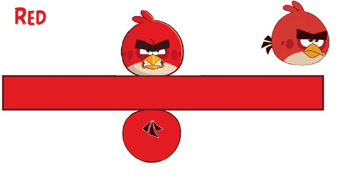 Papercraft Angry Birds Red (Toons) Template by bluejay5678.deviantart.com on @DeviantArt