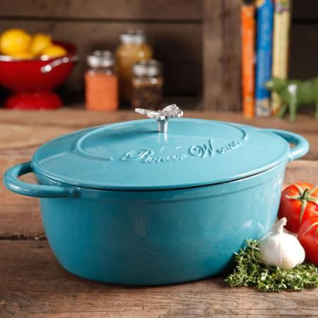 Pioneer Woman Timeless Beauty 7-Quart Dutch Oven with Bakelite Knob and Stainless Steel Butterfly Knob - Walmart
