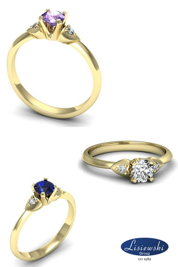 Pierścionek zaręczynowy z kamieniami szlachetnymi, diament, tanzanit, szafir || Engagement ring with diamond, tanzanite, sapphire #sapphire #engagementring